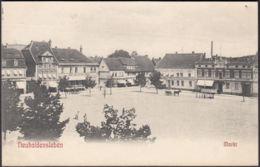AK Neuhaldensleben Markt, Gelaufen 1907 - Haldensleben