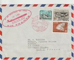 Japon 1961 Première Liaison Air France Tokyo Paris - Cartas