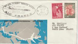 Viet-Nam 1961 Première Liaison Air France Saigon Paris - Viêt-Nam