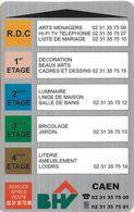 CARTE DE STATIONNEMENT A BANDE MAGNÉTIQUE VILLE DE CAEN 14  CALVADOS BHV - Francia