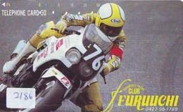 Telecarte Japon *   COCA COLA * (2186) * MOTOR RACE *  Japan Phonecard * TELEFONKARTE * - Pubblicitari