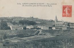 ST LAURENT D'AGNY - N° 3039 - VUE GENERALE - AU DEUXIEME PLAN ST VINCENT D'AGNY - France