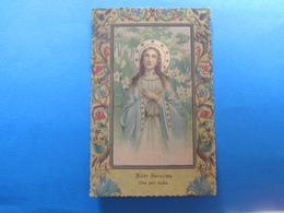 CARTOLINA VERGINE MARIA MATER PURISSIMA - VIAGGIATA - Vergine Maria E Madonne