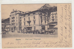 Davos-Dorf - Post & Telegraph - Postkutsche - 1902          (P-221-90505) - GR Grisons