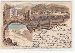 Gruss Aus Klosters - Hotel Vereina - Litho - 1897          (P-221-90505) - GR Grisons