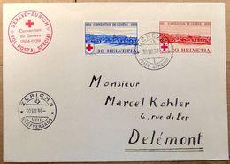 Schweiz Suisse 1939: VOL SPECIAL CROIX-ROUGE Zu 240-241 Mi 357-358 Yv 342-3 Avec O GENÈVE  30.VIII.39 - Poste Aérienne