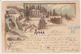 Gruss Aus Arosa - Litho - 1896 !!          (P-221-90505) - GR Grisons