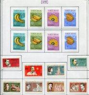 16911 VIET-NAM Du NORD Collection Vendue Par Page N°686/9, 691/2, 697/702 *  1970    TB - Viêt-Nam