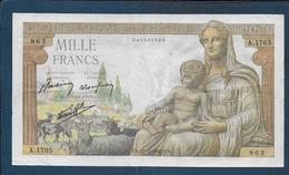 BILLET De  1000 F  Déesse Déméter  Du  22 - 10 - 1942 - 1871-1952 Anciens Francs Circulés Au XXème
