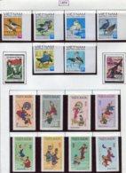 16918 VIET-NAM Du NORD Collection Vendue Par Page N°760/5N.D, 766/7, 768/75  */ **  1972    TB - Viêt-Nam