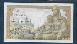 BILLET De  1000 F  Déesse Déméter  Du  11 - 6 - 1942 - 1871-1952 Anciens Francs Circulés Au XXème