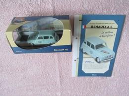 Les Petits Utilitaires Des Années 1950-1960. - Renault 4 L Chicorée Leroux, Dans Sa Boîte Avec Son Fascicule. - Autres Collections