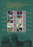 Gran Bretagna, 2010 CS8 100° Ann. Del Passaggio Della Cometa Di Halley, Smiler, Con Custodia, Perfetto - Personalisierte Briefmarken