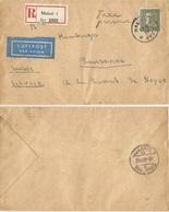 Sverige Sweden Reg.AirmailCV Malmo 19aug1939 (!) To Suisse Part Franked + Part Taxe Percue Handwritten - Brieven En Documenten