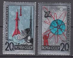 Russia, USSR 22.01.1965 Mi # 3042-43, Cosmonautics Day, MNH OG - Nuevos