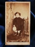 Photo CDV Borne à Toulouse - Portrait Petit Garçon, Second Empire Circa 1865 L489 (1) - Anciennes (Av. 1900)