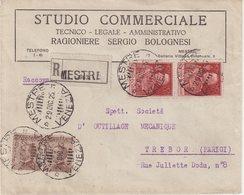 "ITALIE : REC . AFFRANCHISSEMENT à 2 L . "" MESTRE "" . POUR LA FRANCE . 1925 . - 1900-44 Victor Emmanuel III"