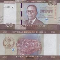Liberia Pick-number: 33a Uncirculated 2016 20 Dollars - Liberia