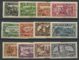 Syrie (1926) N 167 A 178 (charniere) - Nuevos