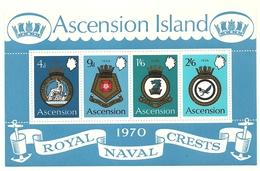 1970 - Ascension BF 2 Stemmi Navali - Francobolli