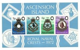 1972 - Ascension BF 4 Stemmi Navali - Francobolli
