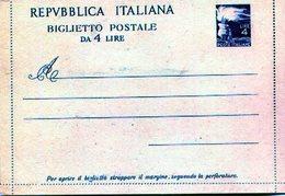 REPVBBLICA ITALIANA BIGLIETTO POSTALE DA 4 LIRE IL TAPPABUCHI 2 DELLA G S E FILAGRANO PUBLICIDAD - NTVG. - Publicidad