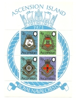 1973 - Ascension BF 6 Stemmi Navali - Francobolli