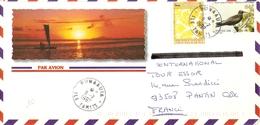 Polynésie Française 1997 - Lettre PA Illustrée De Punaauia - Tahiti à Pantin, France - YT 512/518 - Französisch-Polynesien