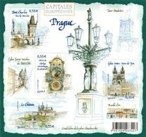 FRANCE Bloc  126 ** MNH Capitale Europe Prague Rép. Tchèque église Notre-Dame De Tyn Horloge Astronomique - Mint/Hinged