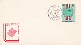 REINCORPORACION DE TACNA 1926 - 1976. PERU FDC -LILHU - Perú