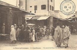 Maroc )   CASABLANCA  - Un Coin De La Place Bab Es Souk - Casablanca