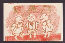CPSM Anti Hitler Nazi Non Circulé à Regarder Avec Filtre Par Transparence On Voit Hitler Cochon Pig - Mechanical