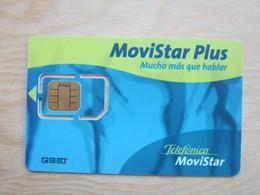 Movistar GSM SIM Card, Fixed Chip - Telefonica