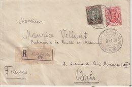 """ITALIE : N° 182 . AVEC COMPLEMENT . REC . DE """" ZARA """" . POUR LA FRANCE . 1926 . ( CATALOGUE SASSONE ) . - Marcophilie"""