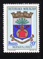 # Madagascar Malagasy .. YT 438  ** SC .. Blason Mananjary .. Cote 0.80 € - Madagascar (1960-...)
