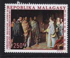 # Madagascar Malagasy .. YT 460  ** SC ..La Reine Adelaide à Londres, Tableau .. Cote 6.50 E - Madagascar (1960-...)