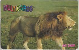 SWITZERLAND - PHONE CARD - PRÉPAYÉE ***  LION  *** - Jungle