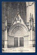 Arlon. Portail De L' église, Saint-Martin Avec La Statue De St. Martin. Censure Militaire . 1919 - Arlon