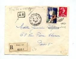 Lettre Recommandée Paris XIV Sur Muller Bijoux - Marcophilie (Lettres)