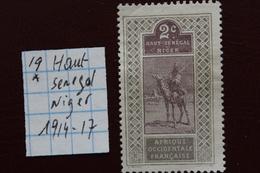 HAUT-SENEGAL ET NIGER(Afrique Occidentale Française) 1914-17 Y ET T NO 19 Neuf* - Ongebruikt