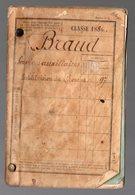 Blaye - Libouirne (33 Gironde) Livret Militaire Classe 1886  (PPP21684) - Dokumente