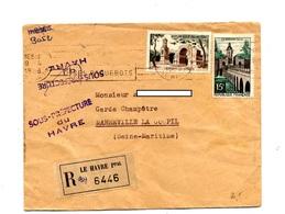 Lettre Recommandée Flamme Le Havre Paquebots Sur Quesnoy Remy - Marcophilie (Lettres)
