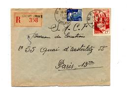 Lettre Recommandée Saint Piat Sur Conques Gandon - Marcophilie (Lettres)