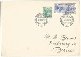 Suisse Automobil Post Bureau Service Postal History Lot In 3 Items 1938/57 - Marcophilie