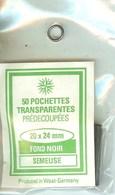 RDV - Pochettes 20x24 Fond Noir (simple Soudure) - Bandes Cristal