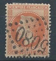 FRANCE 1868 - Napoléon YT N°31 - 40c. Orange - Oblitéré Losange GC 5080 Indice Pothion 11 - Alexandrie Egypte - TB Etat - 1863-1870 Napoléon III Lauré