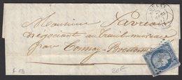 CHARENTE INFERIEURE (16) : Pli Avec 25c Bleu Céres Oblt PC 1774 + CàD Type 15 De LOULAY 1852 - 1849-1876: Klassieke Periode
