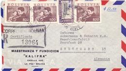 BOLIVIA AIR MAIL 1951 FANTASTIC (FEB201335) - Bolivia