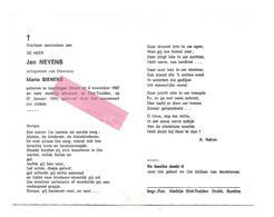 D 905. JAN NEYENS Echtg. M. Bienens - °GERDINGEN (BREE) 1907 / +SINT-TRUIDEN 1990 - Images Religieuses