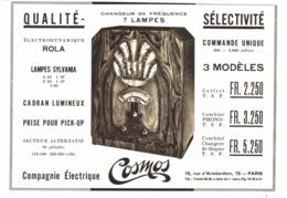 """PUB RADIO """" COSMOS """" 1933 ( 1 ) - Radio & TSF"""